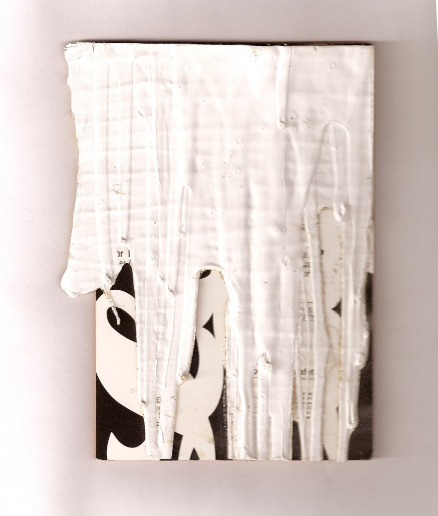 Jim Lee, Untitled (Corkback), 2005, latex on cardstock with cork and wood, Object: 4 1/2 x 6 in.