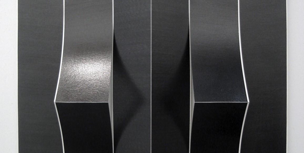 Diogo Pimentao, Masque (Miroir), 2008-2010, paper, graphite, Overall: 23 5/8 x 23 5/8 x 2 3/4 in.