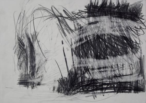 Nadja Poppe, Landschaft Mecklenburg Vorpommern, 2010, Graphite on paper, Paper: 12 x 16 15/16 in.