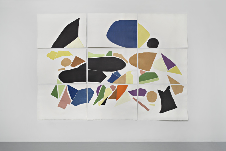 Robin Cameron, Movement II, 2012, Chine Colle (japanese paper, wheat paste) Letterpress on paper, Overall: 75 x 105 in.
