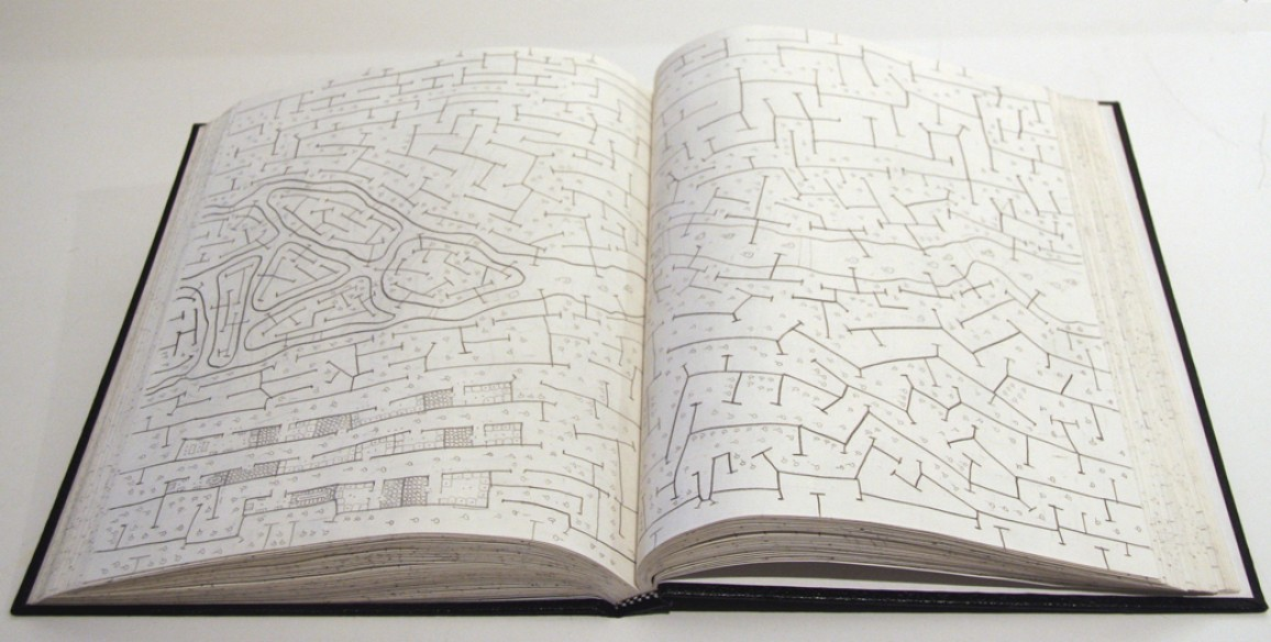 Kim Jones, War Drawing Book, 2004 – 2005 – 2006, graphite on paper in drawing book, Object: 11 1/4 x 8 3/4 x 1 1/4 in.