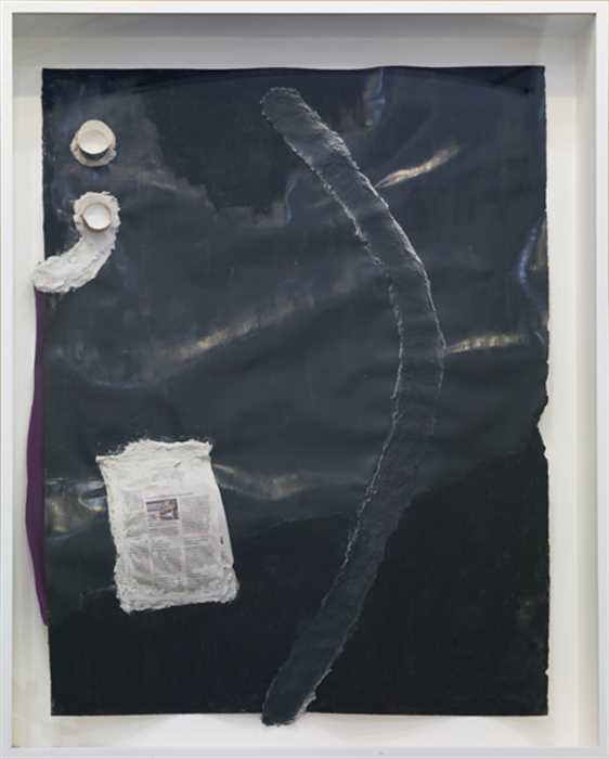 Jessica Jackson Hutchins, Parenthetical, 2012, Mixed media on paper, Framed: 48 3/4 x 38 1/4 x 4 3/4 in.