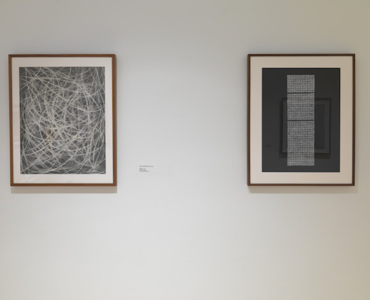 Installation Images from Dot, Dash, Dissolve: Drawn from the JoAnn Gonzalez Hickey Collection at PAFA