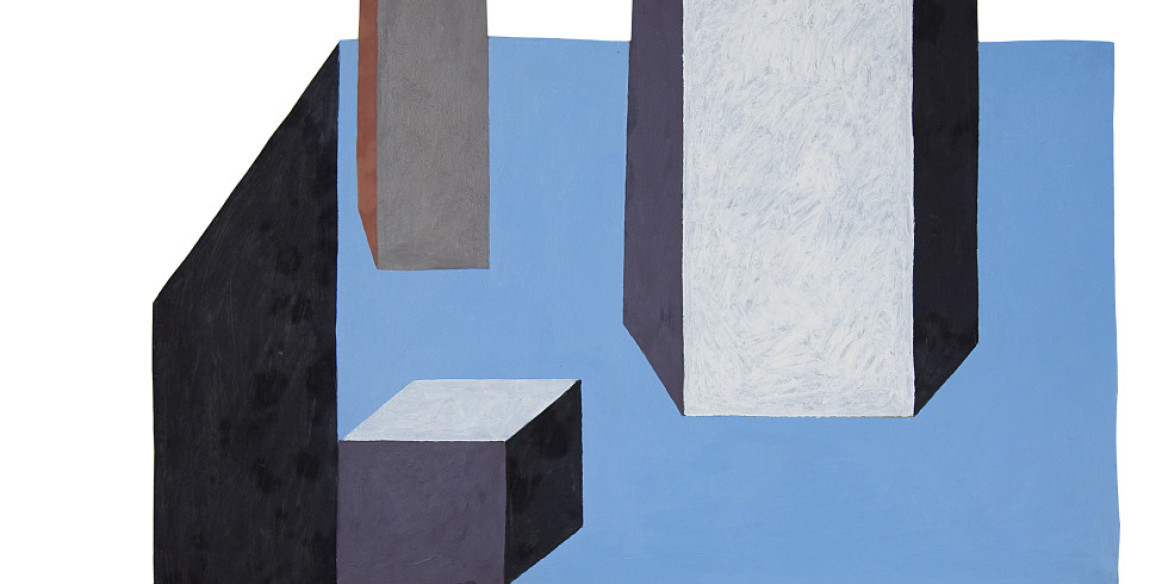 Nathalie Du Pasquier, Untitled, 2013, Oil on cut-out paper, 29 1/2 x 24 in.